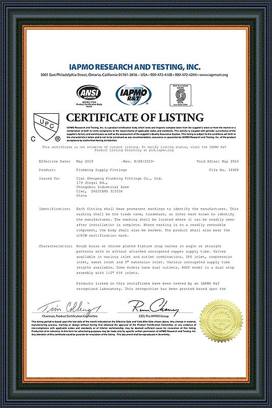 Certificate- 10408